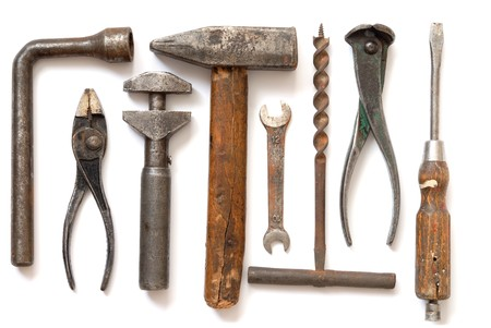 4269430 - isolated old tools set